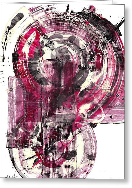 Greeting Card featuring the painting Sphere Series 1026.050412 by Kris Haas