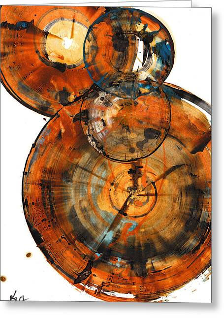 Greeting Card featuring the painting Sphere Series 1027.050412 by Kris Haas