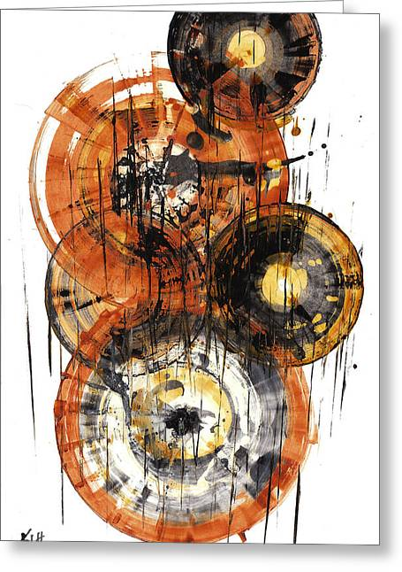 Greeting Card featuring the painting Sphere Series 1028.050412 by Kris Haas