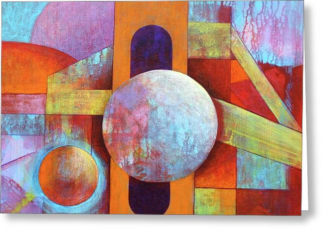 Spheres And Beams Greeting Card by J W Kelly