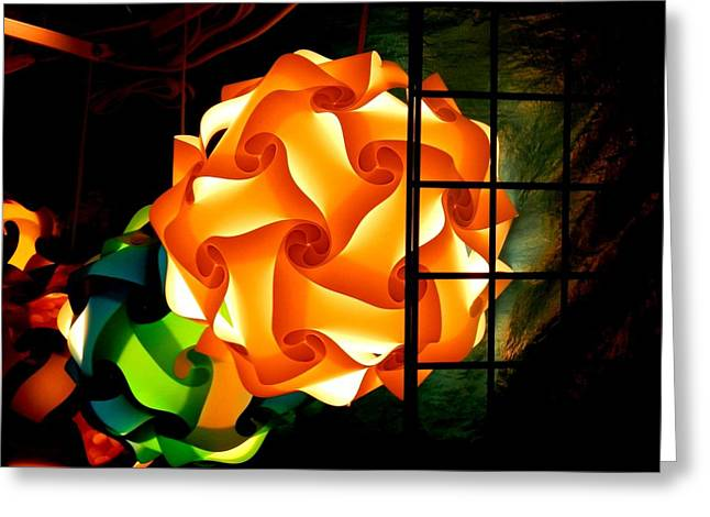 Spheres Of Light Electrified Greeting Card