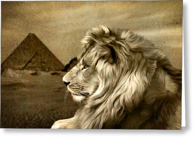 Sphinx 2 Greeting Card by Julie L Hoddinott