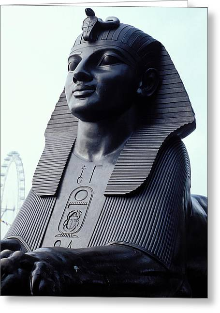 Sphinx In London Greeting Card by Carl Purcell