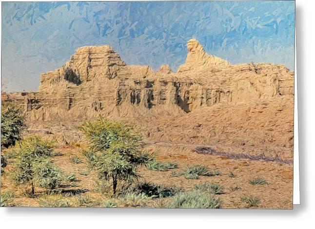 Sphinx Of Hungol National Park Greeting Card by Syed Muhammad Munir ul Haq