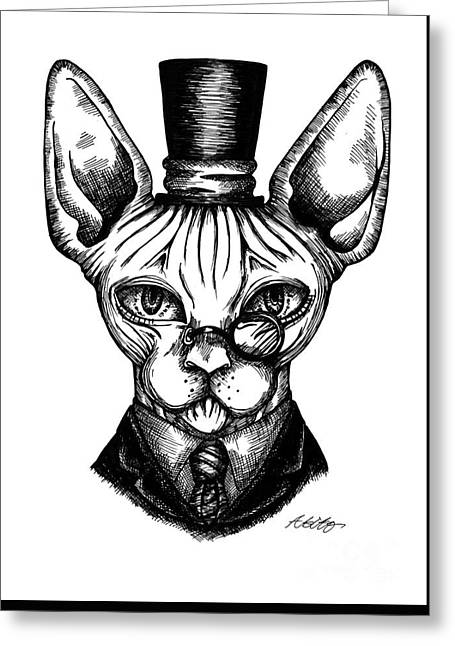 Sphynx Gentleman Greeting Card