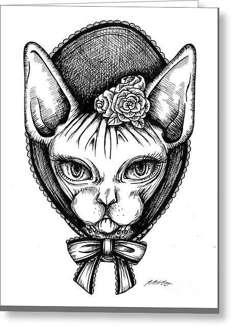 Sphynx Lady Greeting Card