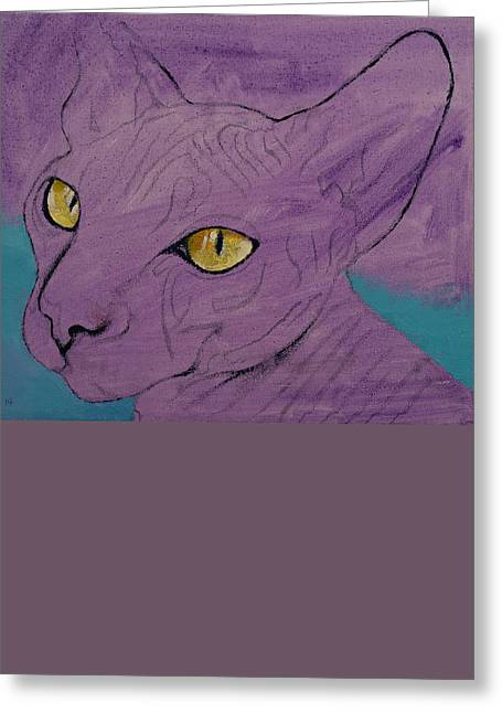 Sphynx Greeting Card by Michael Creese