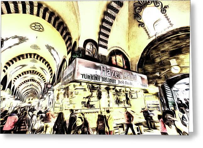 Spice Bazaar Istanbul Art Greeting Card