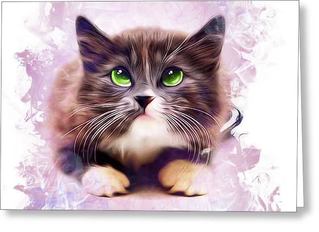 Spice Kitty Greeting Card