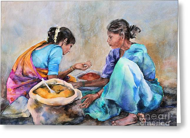 Spice Sellers Greeting Card by Kate Bedell