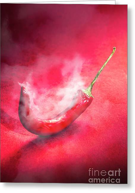 Spicy Food Art Greeting Card