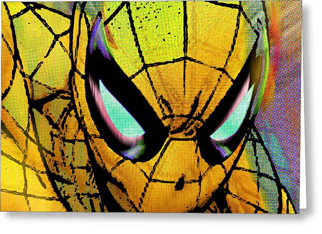 Spider-man Pop Gold Greeting Card