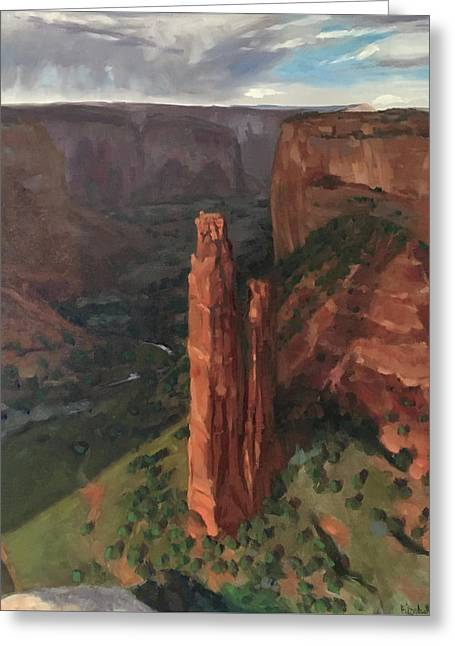 Spider Rock, Canyon De Chelly Greeting Card