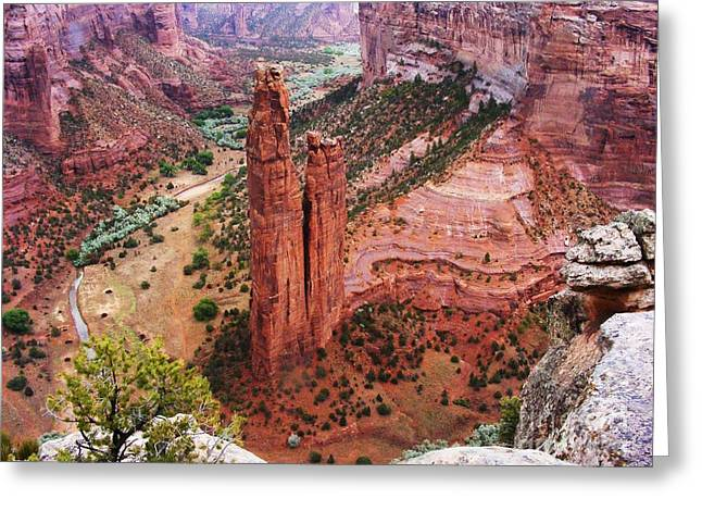 Spider Rock Greeting Card by Marilyn Smith