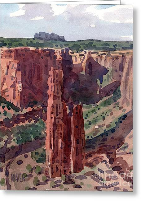 Spider Rock Overlook Greeting Card by Donald Maier