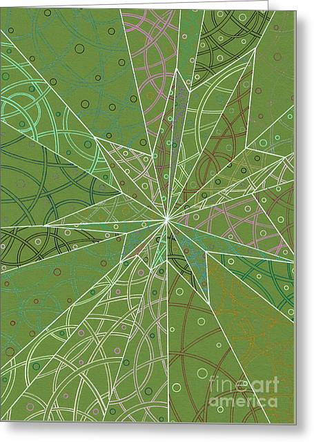 Spider Silk Greeting Card by Amy Nelson