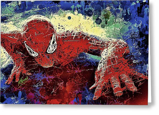 Spiderman Climbing  Greeting Card