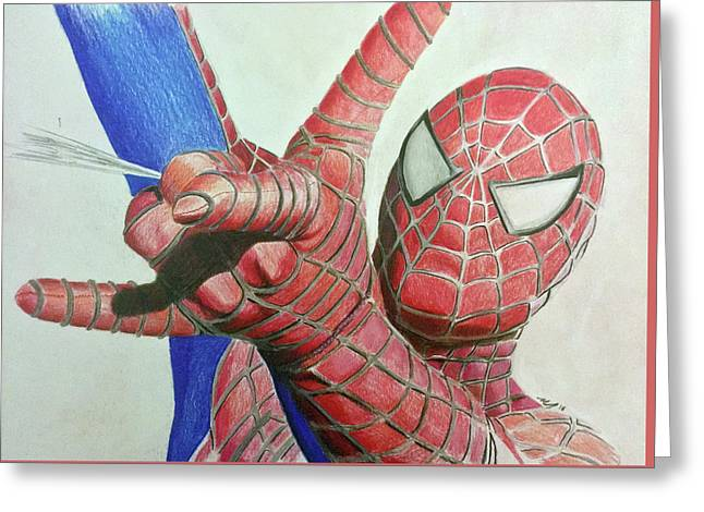 Spiderman Greeting Card by Michael McKenzie