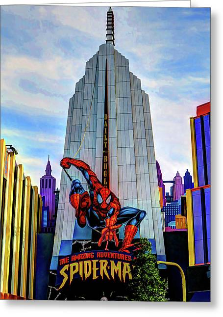 Greeting Card featuring the photograph Spiderman by Tom Prendergast