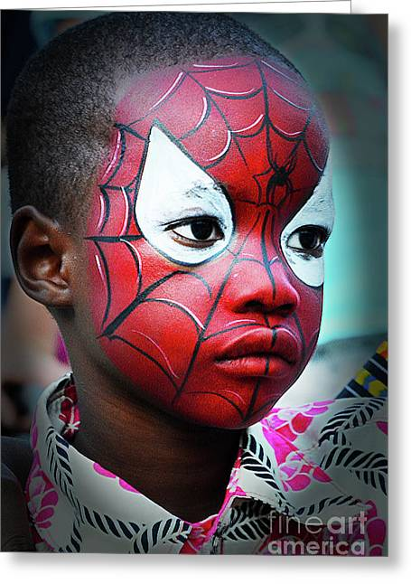 Spiderrman Greeting Card by Bob Christopher
