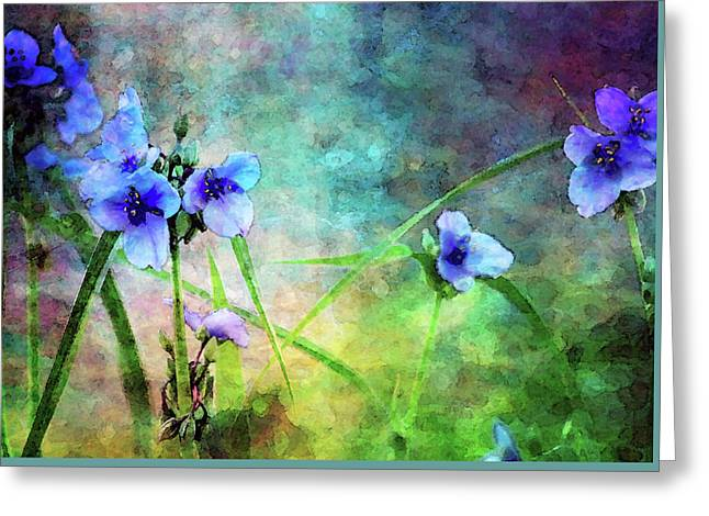 Spiderwort Dance 0115 Idp_2 Greeting Card