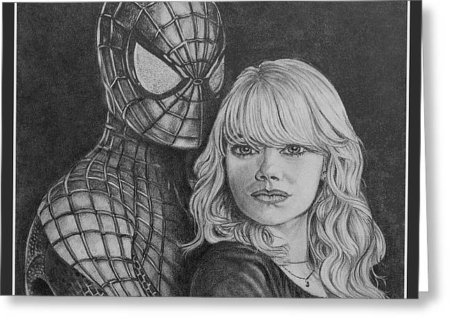 Spidey And Gwen Greeting Card