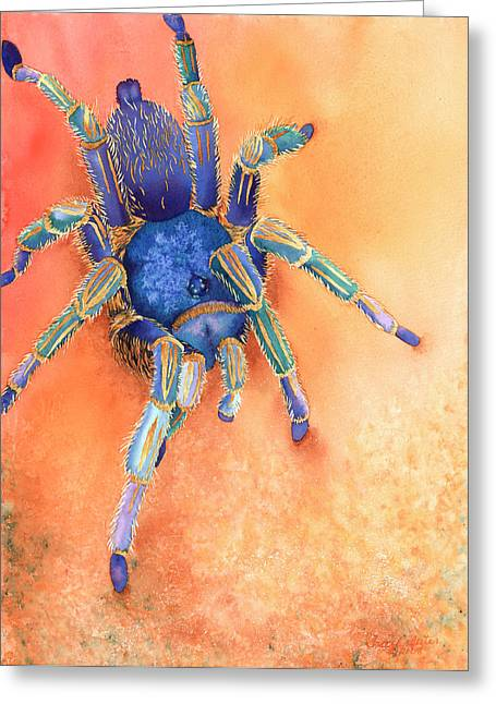 Spider Paintings Greeting Cards - Spidy Greeting Card by Tracy L Teeter