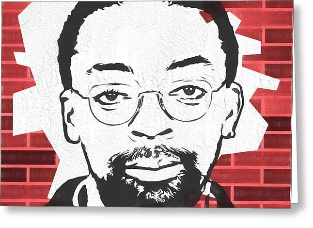 Spike Lee Graphic Tribute Greeting Card by Dan Sproul