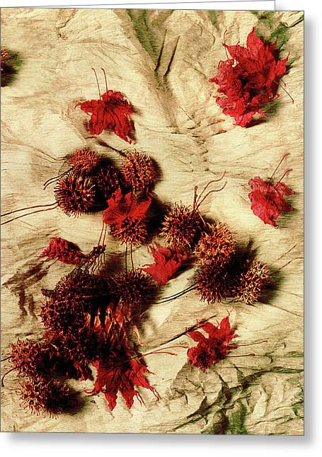 Spiked Nuts Red Greeting Card