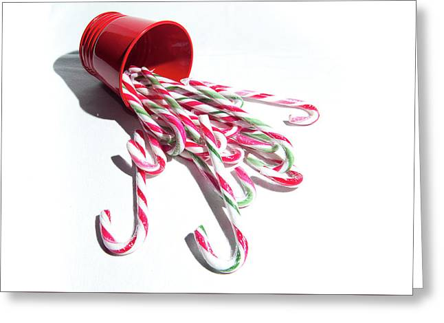 Spilled Candy Canes Greeting Card