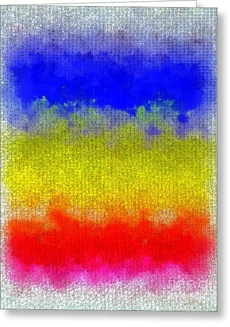 Greeting Card featuring the digital art Spilled Paint 1 by Darla Wood