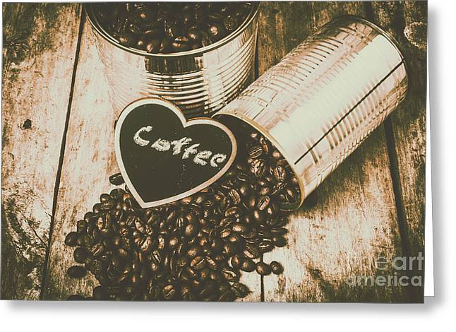 Spilling The Beans Greeting Card by Jorgo Photography - Wall Art Gallery