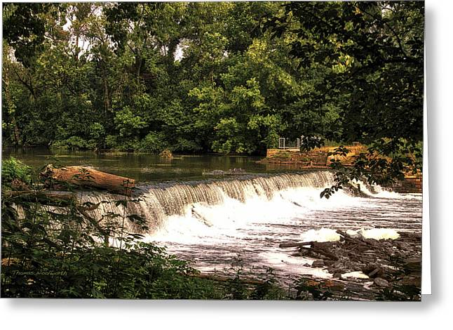 Spillway Early Morning Greeting Card by Thomas Woolworth