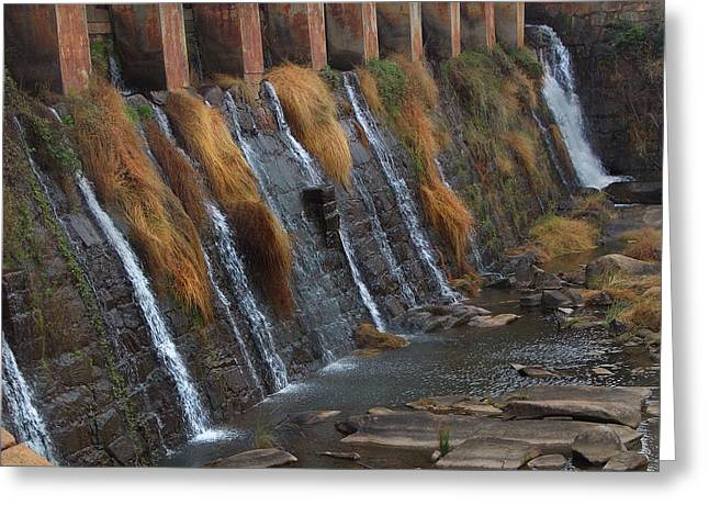 Spillway Greeting Card by Skip Willits
