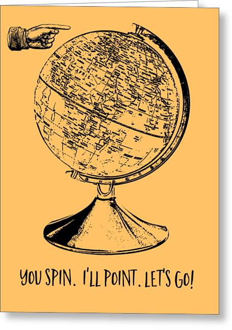 Spin The Globe Tee Greeting Card