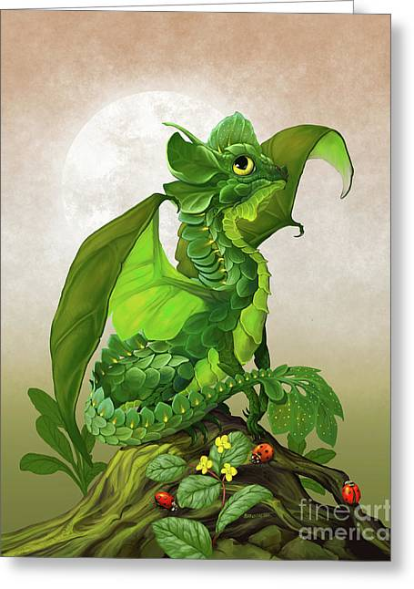 Spinach Dragon Greeting Card