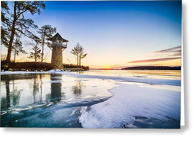 Spindle Point Sunrise Greeting Card by Robert Clifford