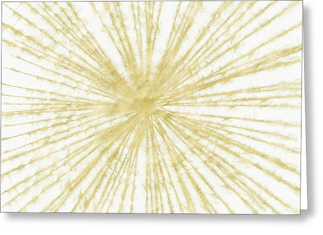 Spinning Gold- Art By Linda Woods Greeting Card by Linda Woods