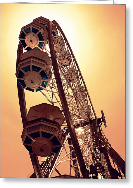 Spinning Like A Ferris Wheel Greeting Card by Glenn McCarthy Art and Photography
