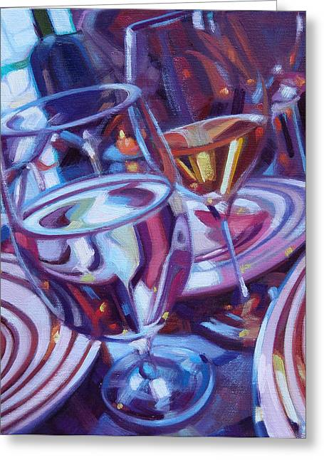 Zinfandel Greeting Cards - Spinning Plates Greeting Card by Penelope Moore