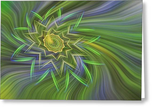 Spinning Star Greeting Card by Linda Phelps