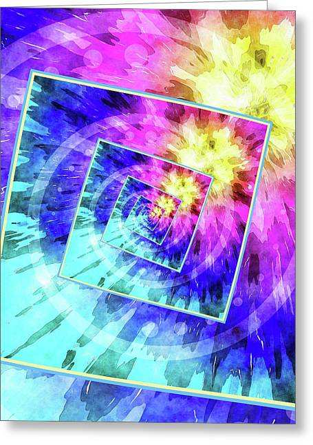 Spinning Tie Dye Abstract  Greeting Card