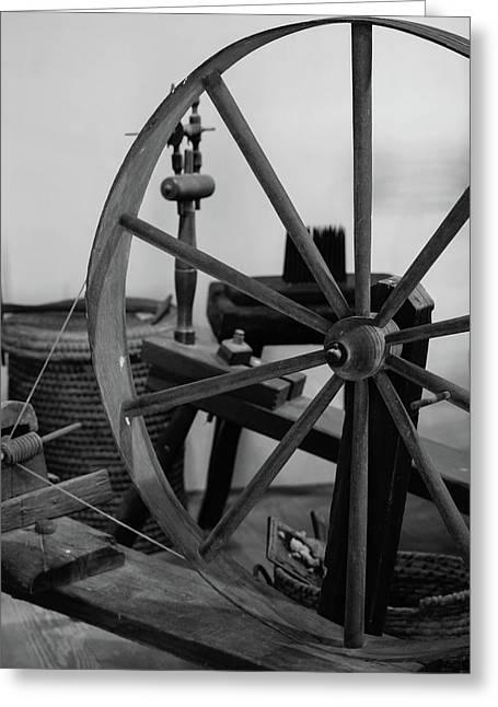 Spinning Wheel At Mount Vernon Greeting Card