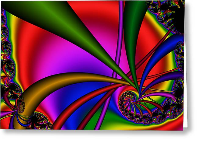 Spiral 123 Greeting Card by Rolf Bertram