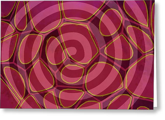Spiral 2 - Abstract Painting Greeting Card by Edward Fielding