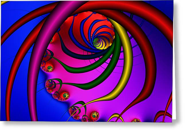 Spiral 216 Greeting Card by Rolf Bertram