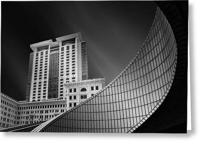 Spiral City Greeting Card by Mohammad Rafiee