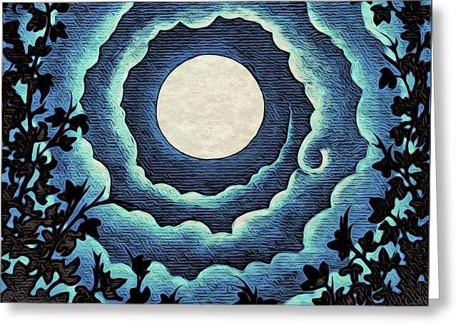Spiral Clouds Greeting Card
