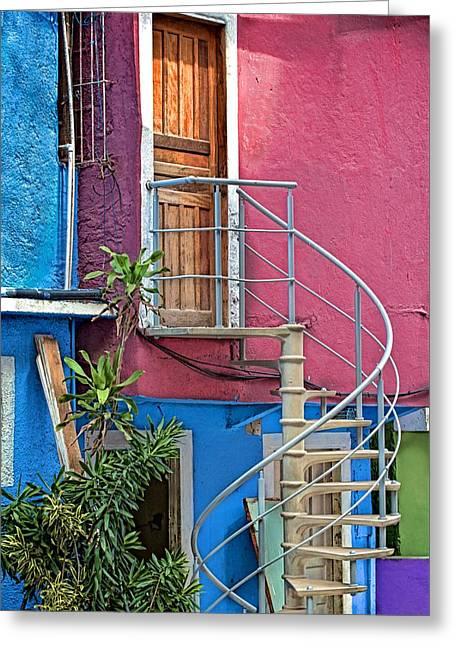 Greeting Card featuring the photograph Spiral Entry by Kim Wilson