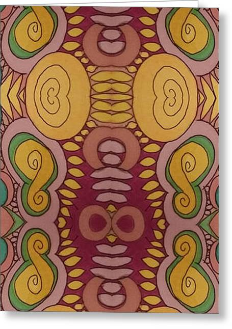 Spiral Figure 8's Greeting Card by Modern Metro Patterns and Textiles